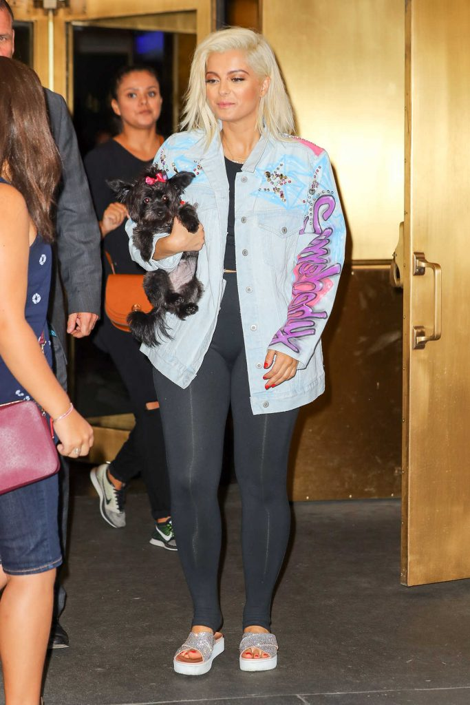 Bebe Rexha Leaves The Tonight Show Starring Jimmy Fallon in New York City 08/04/2017-2