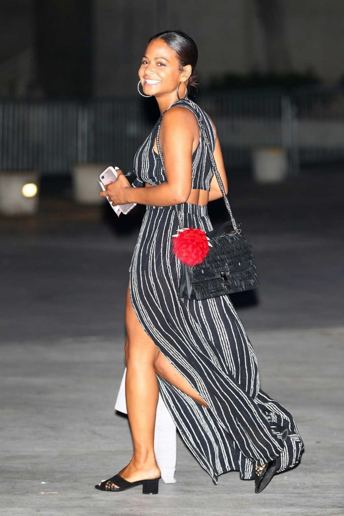 Christina Milian Arrives for the Ed Sheeran Concert in LA 08/10/2017-1