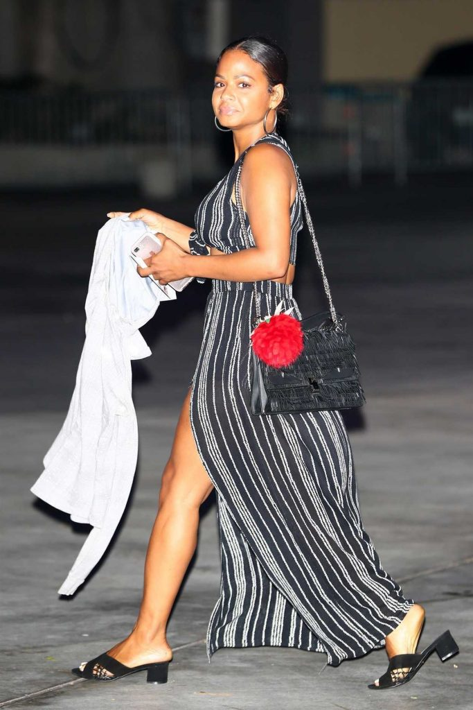 Christina Milian Arrives for the Ed Sheeran Concert in LA 08/10/2017-2