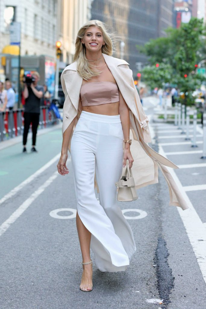 Devon Windsor Attends Castings for the 2017 Victoria's Secret Fashion Show in NYC 08/21/2017-3