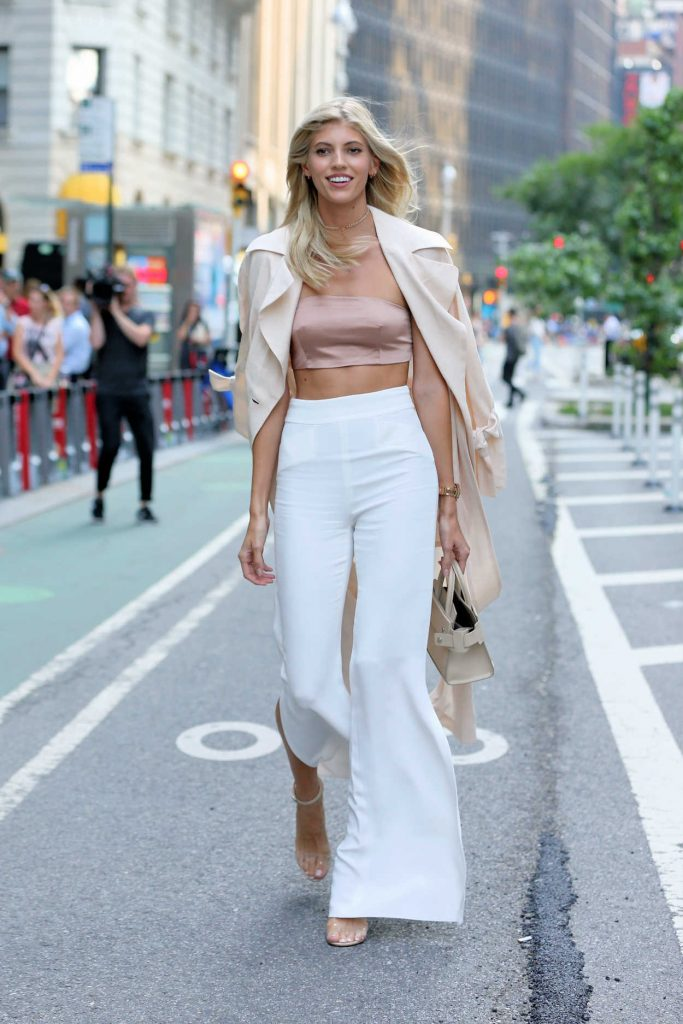 Devon Windsor Attends Castings for the 2017 Victoria's Secret Fashion Show in NYC 08/21/2017-5