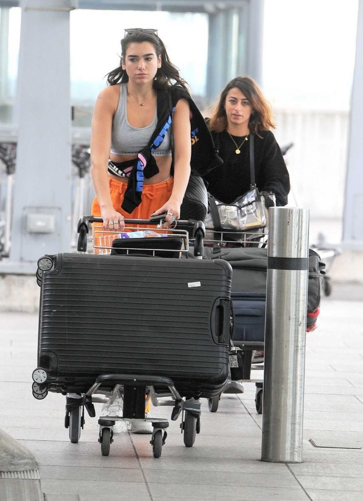 Dua Lipa Arrives at Heathrow Airport in London 08/08/2017-1