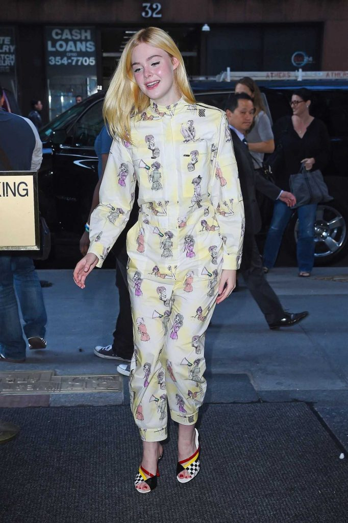 Elle Fanning Leaves the Today Show in NYC 08/30/2017-2