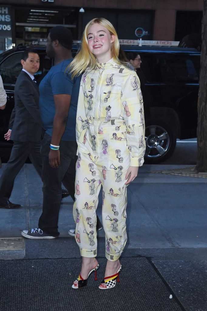 Elle Fanning Leaves the Today Show in NYC 08/30/2017-3