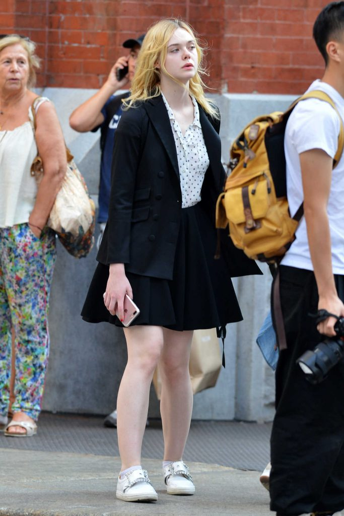 Elle Fanning Was Spotted Out in NYC 08/26/2017-1