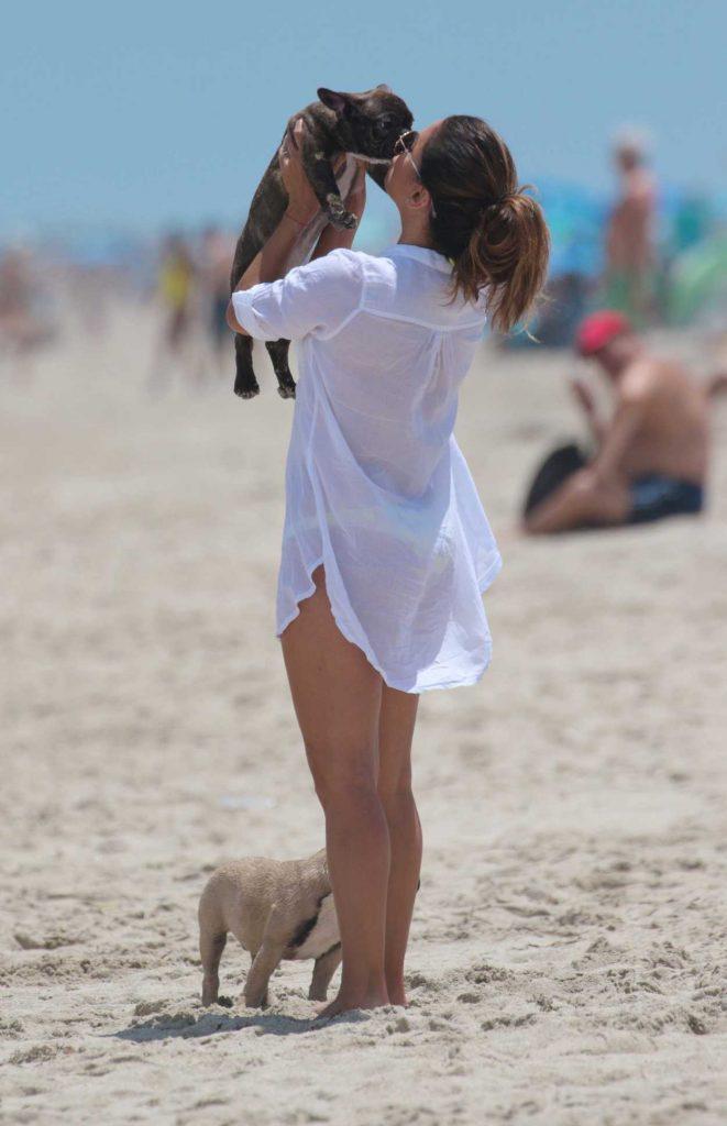 Eva Longoria at the Beach in Miami 08/06/2017-5
