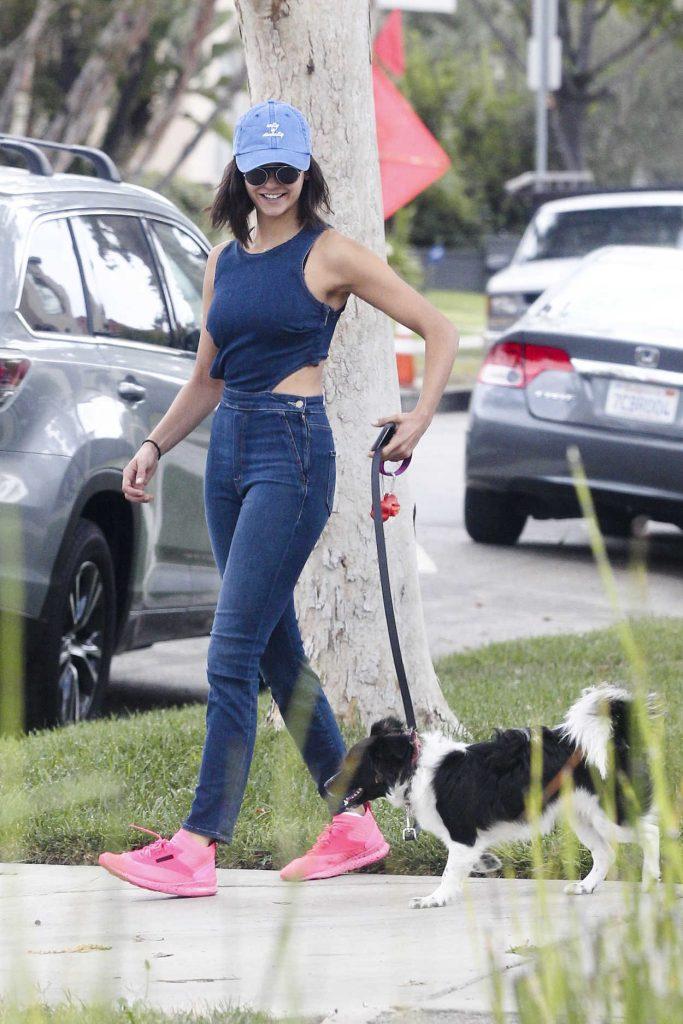 Nina Dobrev Walks Her Dog Maverick in LA 08/15/2017-1
