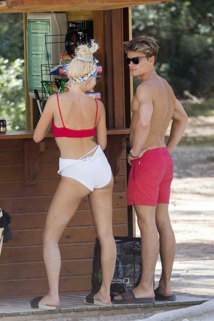 Pixie Lott Wears a Swimwear at the Beach in Mallorca 08/24/2017-5