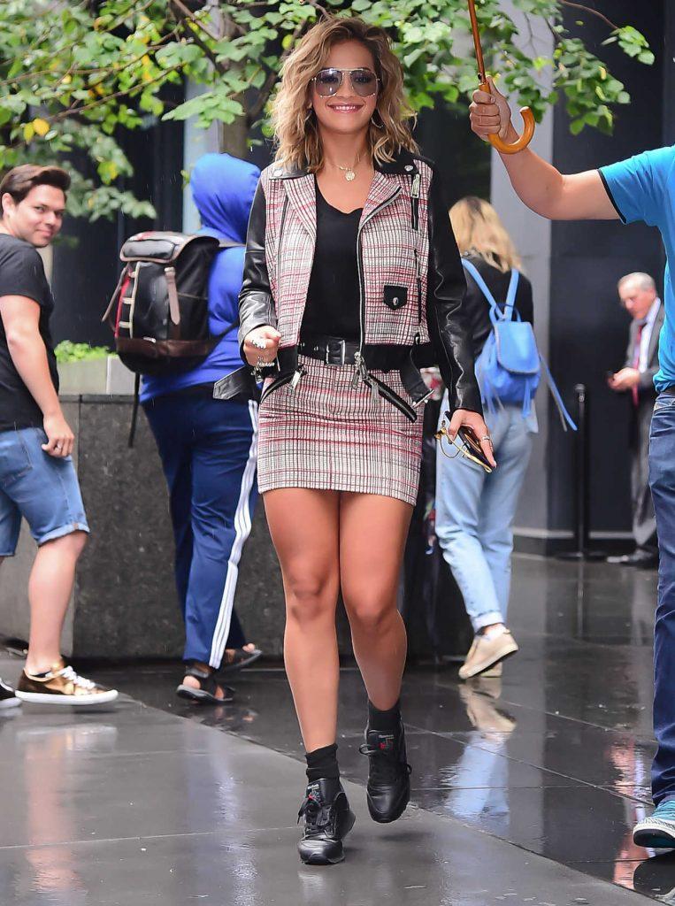 Rita Ora Leaves a Radio Show Studio in New York 08/07/2017-3
