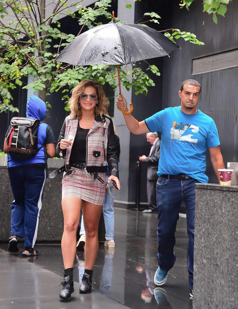 Rita Ora Leaves a Radio Show Studio in New York 08/07/2017-5