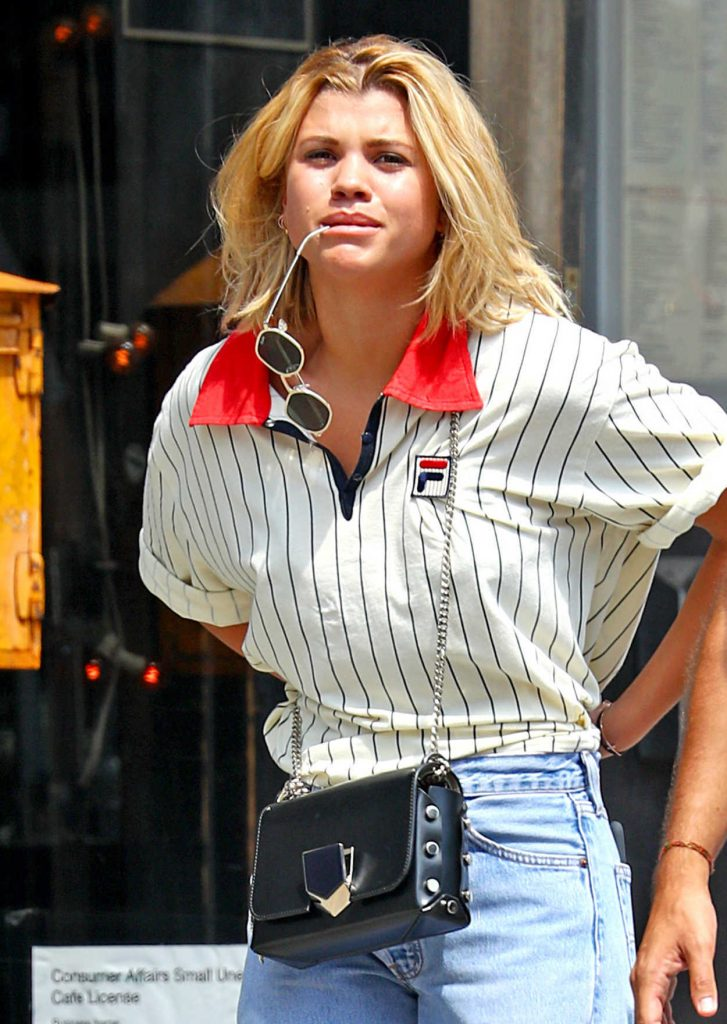Sofia Richie Has a Sports Retro Look in New York 08/10/2017-4