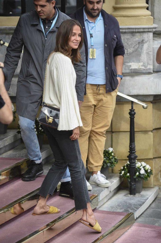 Alicia Vikander Arrives at the 65th San Sebastian Film Festival in San Sebastian, Spain 09/22/2017-2