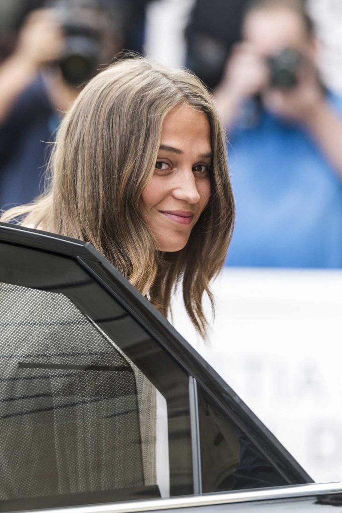 Alicia Vikander Arrives at the 65th San Sebastian Film Festival in San Sebastian, Spain 09/22/2017-4