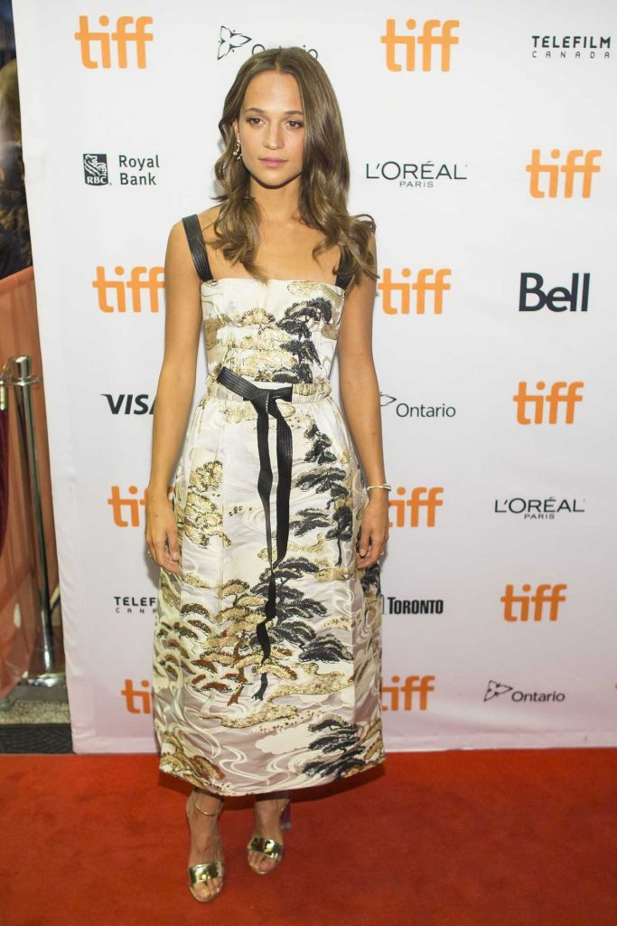Alicia Vikander at Euphoria Premiere During the 42nd Toronto International Film Festival 09/11/2017-1