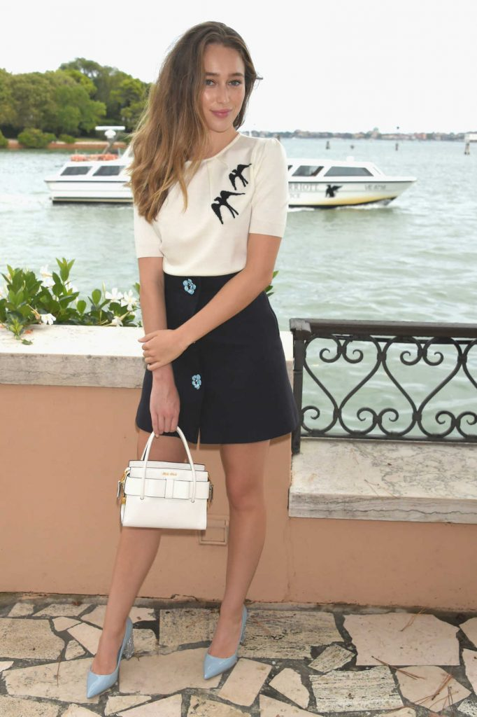 Alycia Debnam-Carey Attends an Intimate Lunch at Hotel Cipriani in Venice, Italy 09/01/2017-1