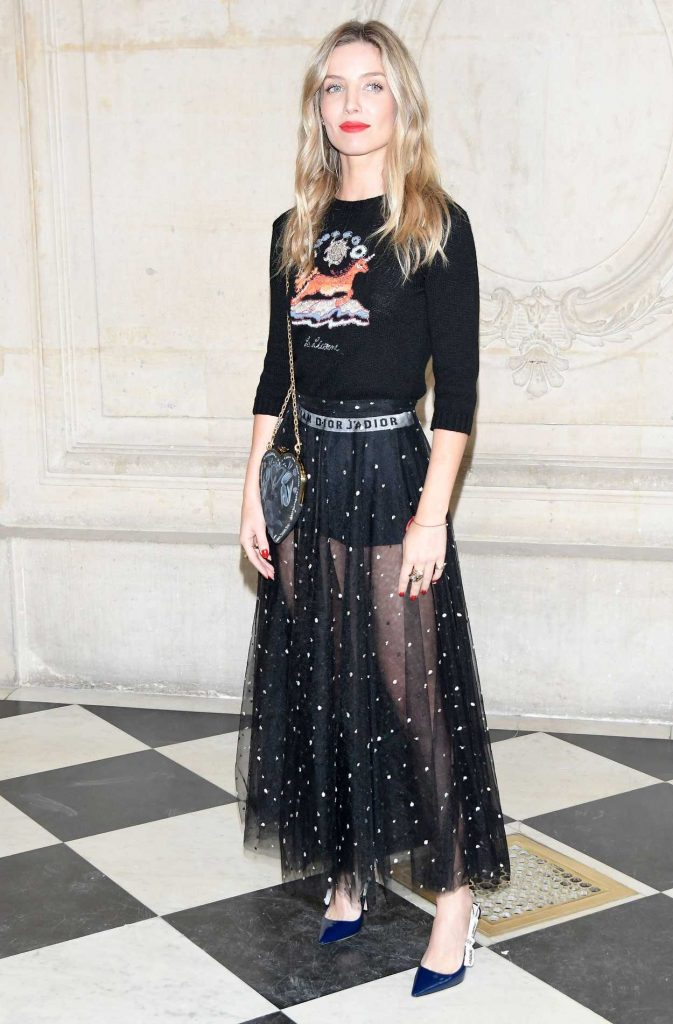 Annabelle Wallis at the Christian Dior Show in Paris 09/26/2017-1