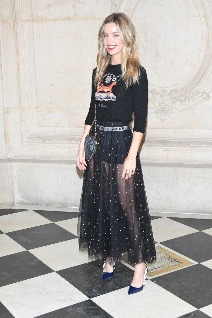 Annabelle Wallis at the Christian Dior Show in Paris 09/26/2017-2