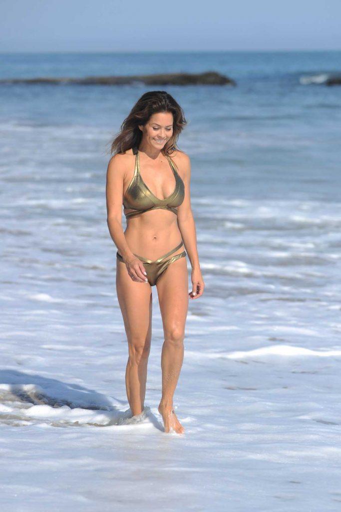 Brooke Burke in Bikini at the Beach in Malibu 08/30/2017-2