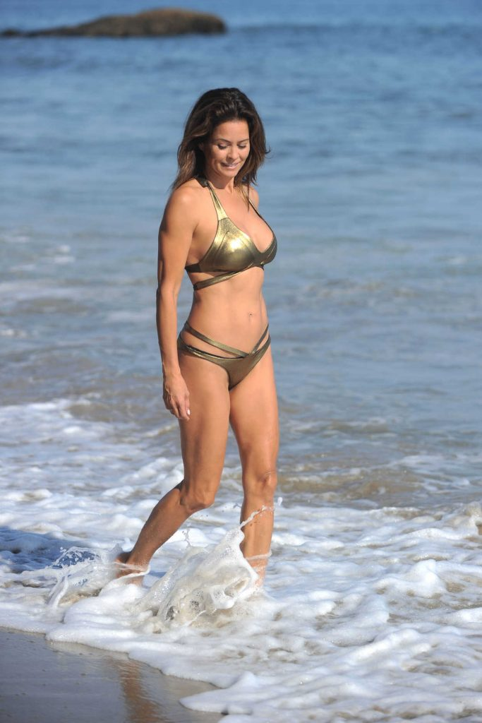 Brooke Burke in Bikini at the Beach in Malibu 08/30/2017-3