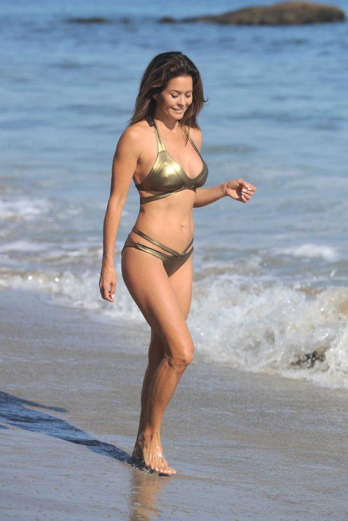 Brooke Burke in Bikini at the Beach in Malibu 08/30/2017-4