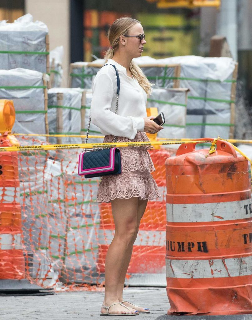 Caroline Wozniacki Was Seen Out in New York City 08/31/2017-2