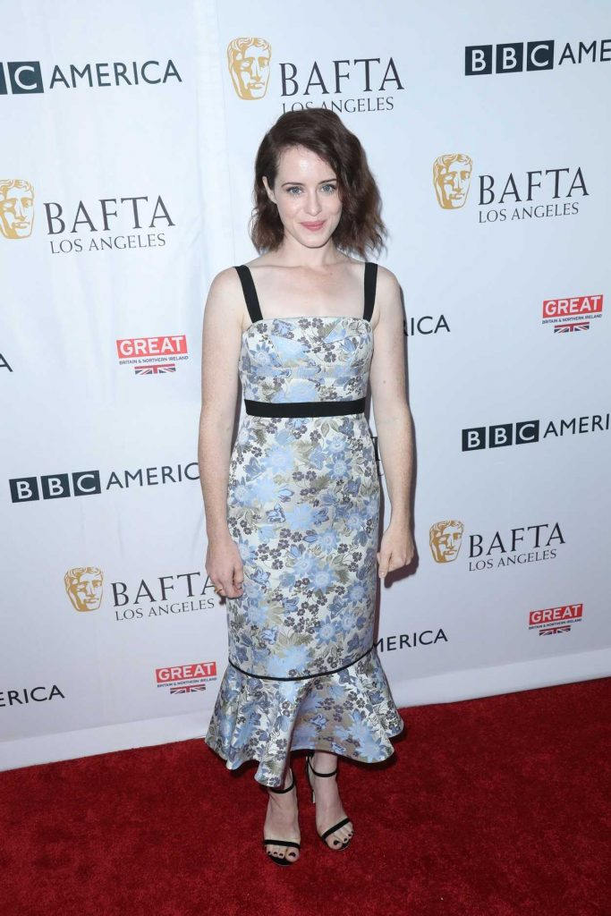 Claire Foy at BAFTA Tea Party in Los Angeles 09/16/2017-1