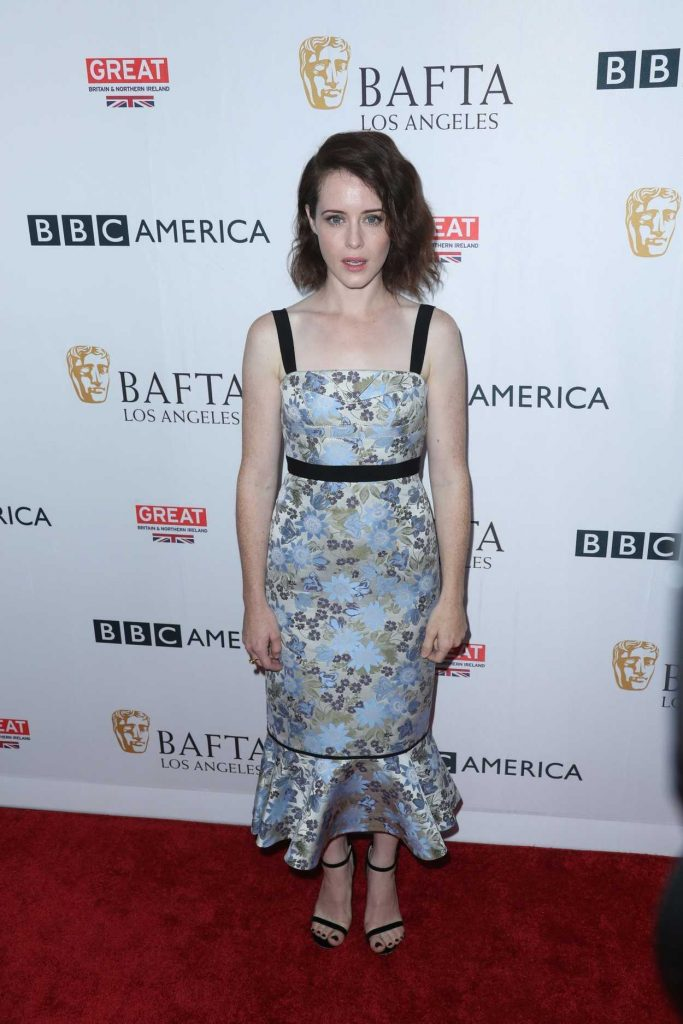 Claire Foy at BAFTA Tea Party in Los Angeles 09/16/2017-2