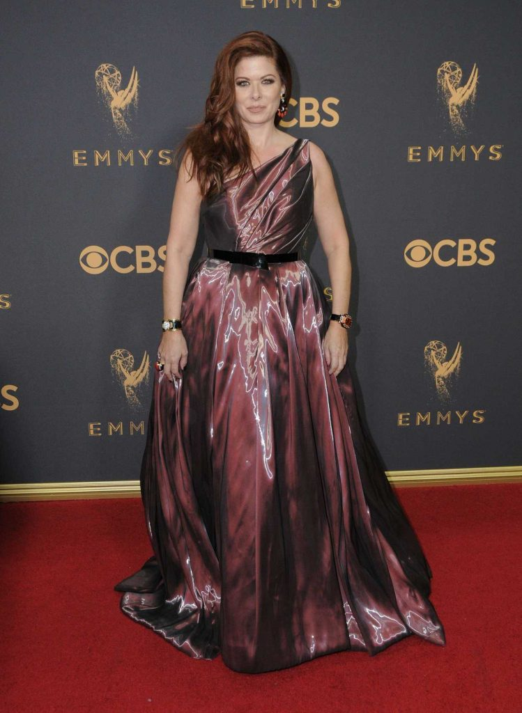 Debra Messing at the 69th Annual Primetime Emmy Awards in Los Angeles 09/17/2017-1