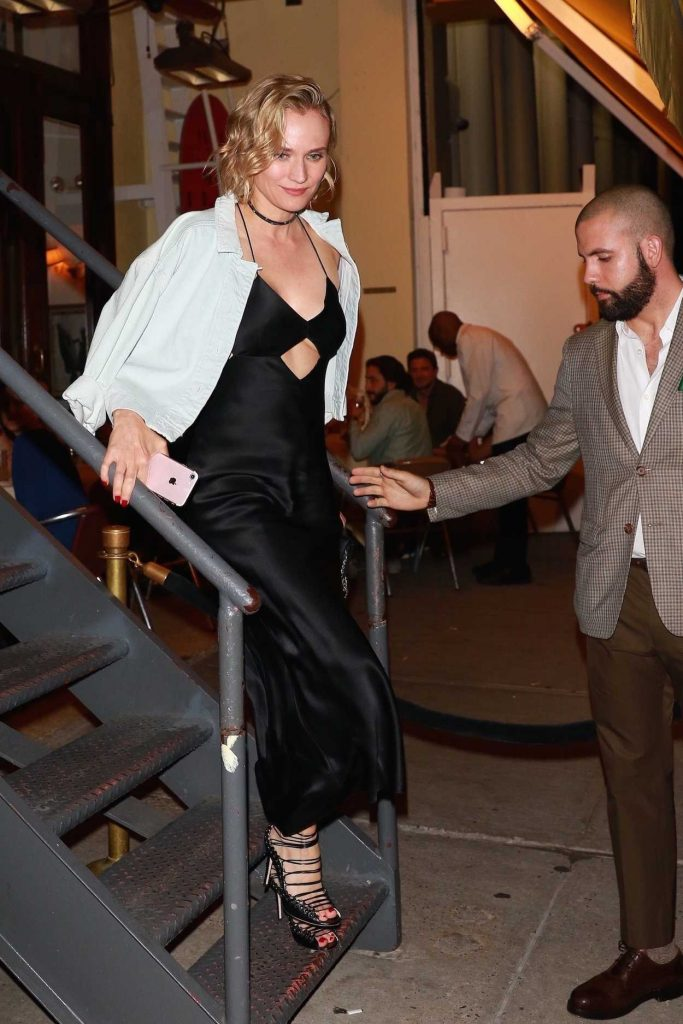 Diane Kruger Leaves Cipriani After Partying With Kill Bill Cast Members in New York 09/23/2017-3