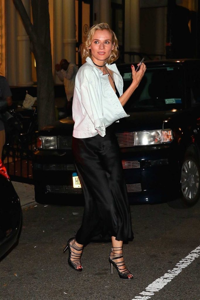 Diane Kruger Leaves Cipriani After Partying With Kill Bill Cast Members in New York 09/23/2017-4