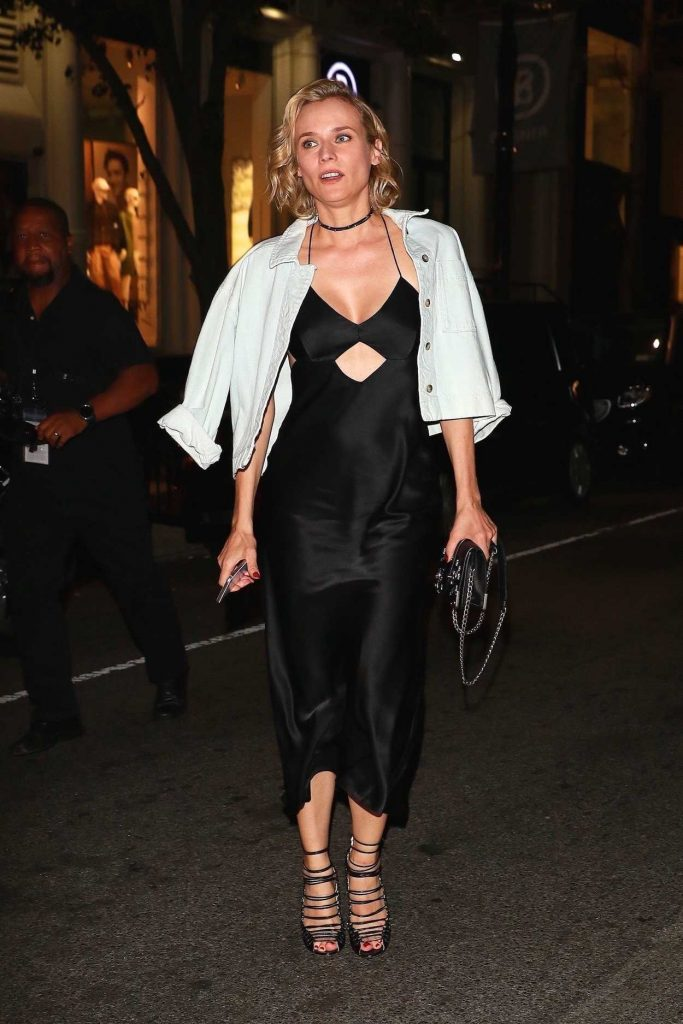 Diane Kruger Leaves Cipriani After Partying With Kill Bill Cast Members in New York 09/23/2017-5