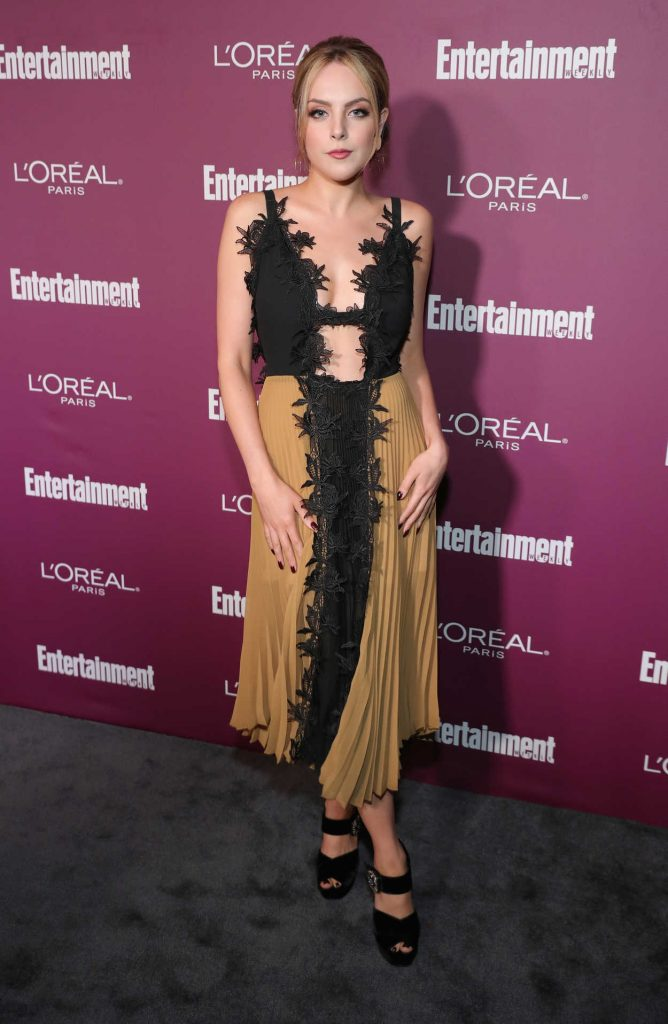 Elizabeth Gillies at the 2017 Entertainment Weekly Pre-Emmy Party in West Hollywood 09/15/2017-1