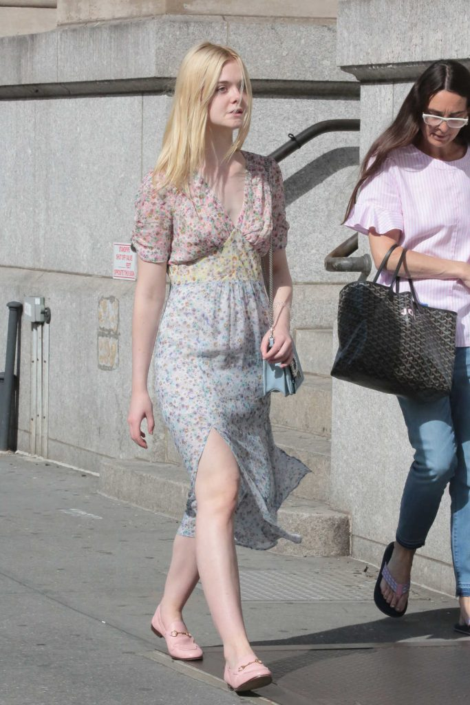Elle Fanning Was Seen Out for a Walk in NYC 09/01/2017-1