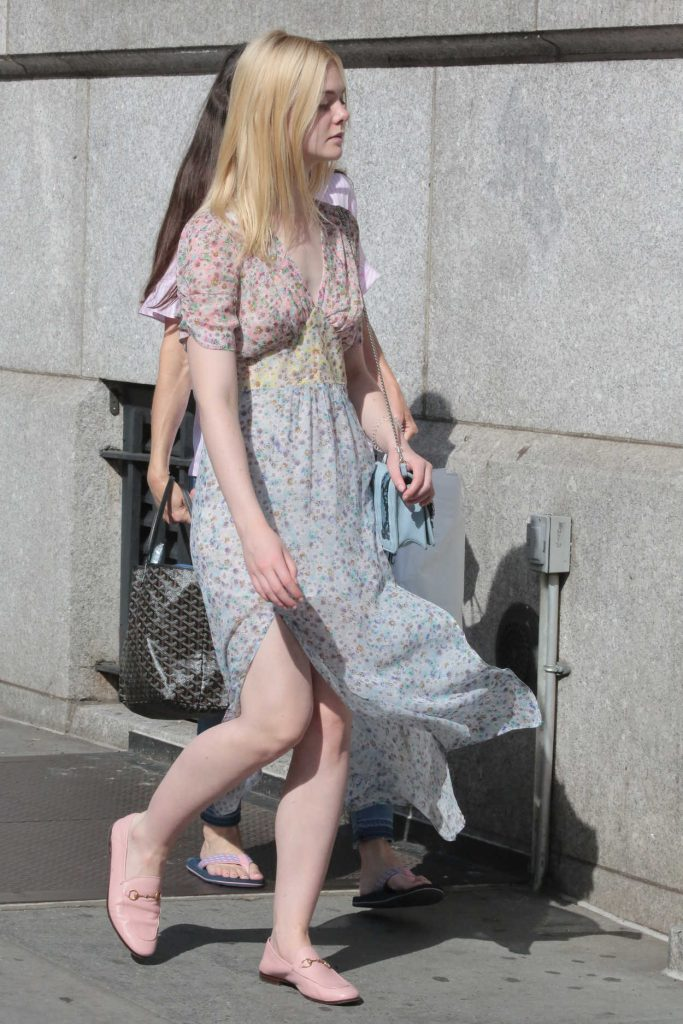 Elle Fanning Was Seen Out for a Walk in NYC 09/01/2017-2