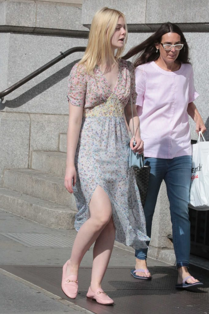 Elle Fanning Was Seen Out for a Walk in NYC 09/01/2017-3