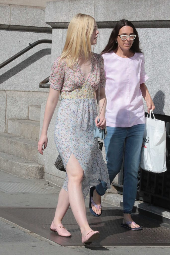 Elle Fanning Was Seen Out for a Walk in NYC 09/01/2017-4