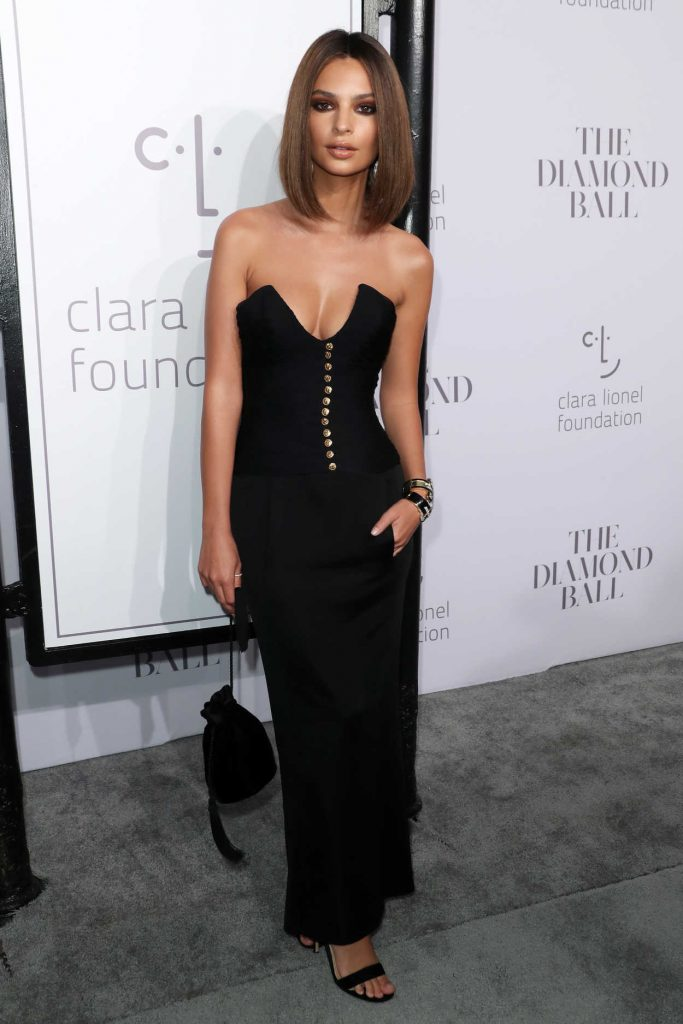 Emily Ratajkowski at the Rihanna's 3rd Annual Clara Lionel Foundation Diamond Ball in New York 09/14/2017-1
