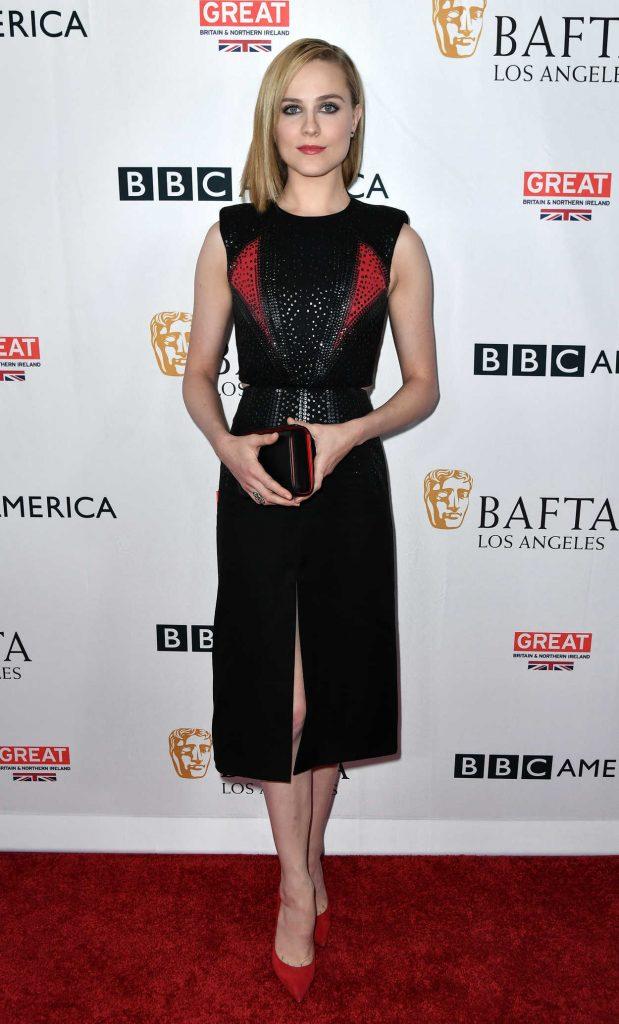 Evan Rachel Wood at BAFTA Tea Party in Los Angeles 09/16/2017-1