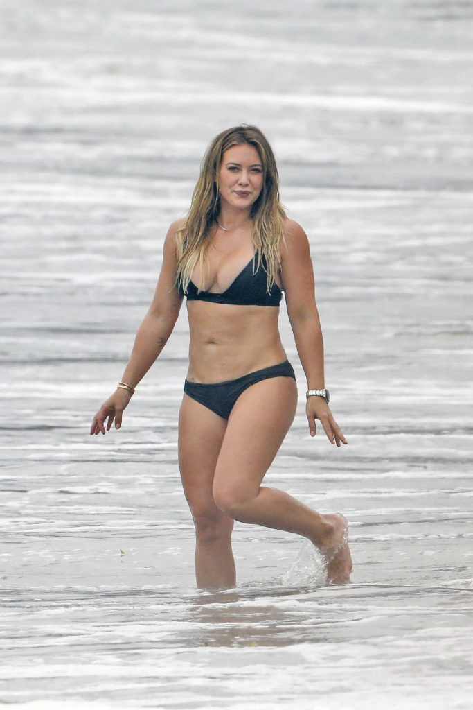 Hilary Duff in Bikini at the Beach in Malibu 09/04/2017-1