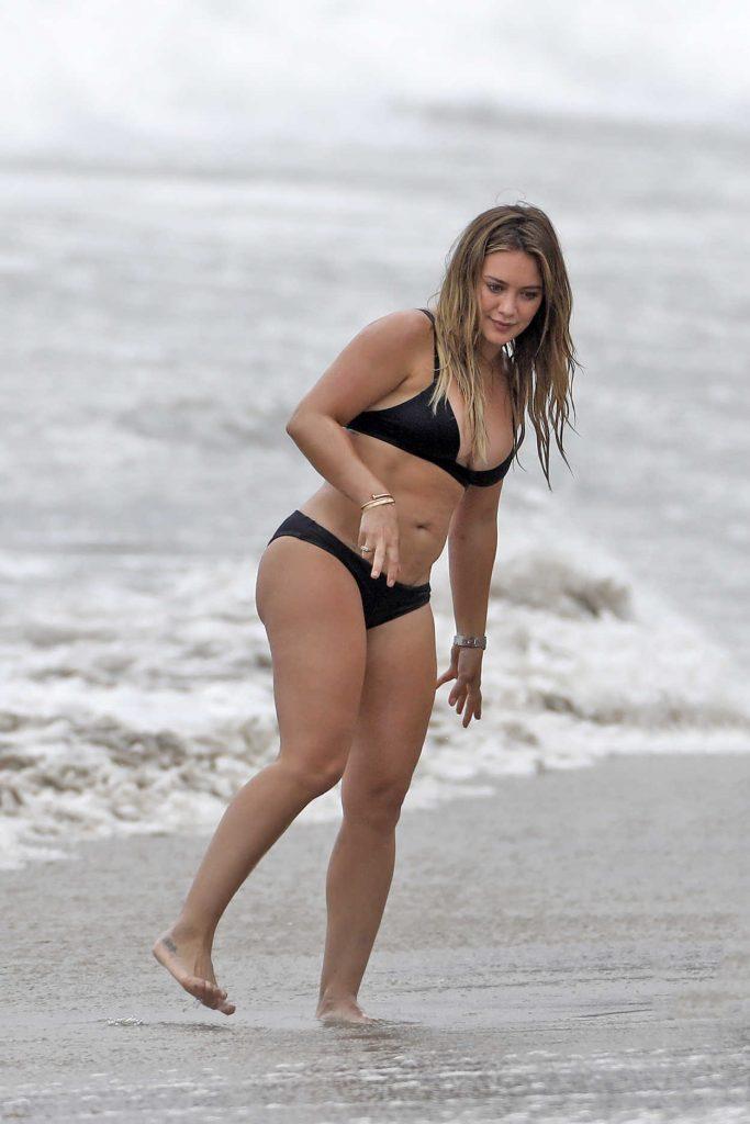 Hilary Duff in Bikini at the Beach in Malibu 09/04/2017-4