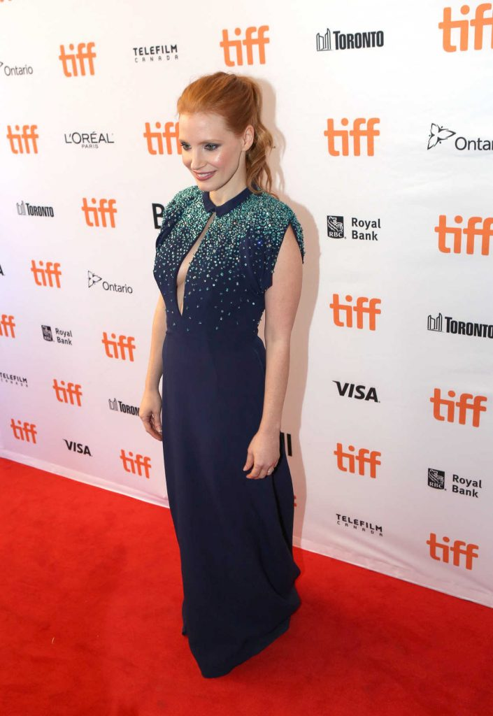 Jessica Chastain at Molly's Game Premiere During Toronto International Film Festival in Toronto 09/08/2017-2