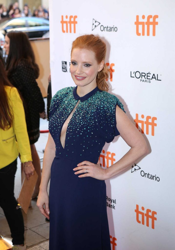 Jessica Chastain at Molly's Game Premiere During Toronto International Film Festival in Toronto 09/08/2017-5