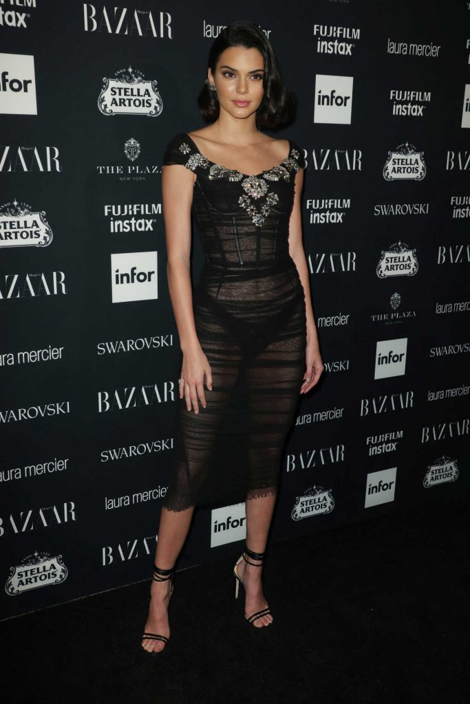 Kendall Jenner at Harper's Bazaar ICONS Party During New York Fashion Week 09/08/2017-3