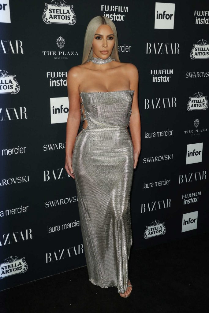 Kim Kardashian at Harper's Bazaar ICONS Party During New York Fashion Week 09/08/2017-1