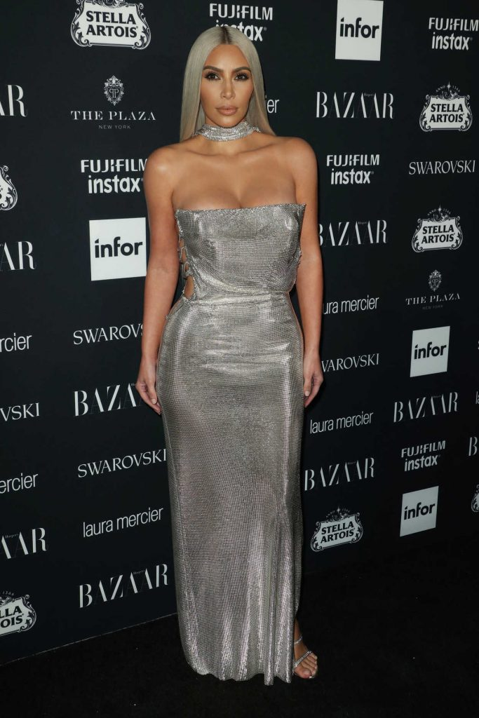 Kim Kardashian at Harper's Bazaar ICONS Party During New York Fashion Week 09/08/2017-2