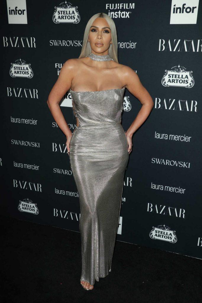 Kim Kardashian at Harper's Bazaar ICONS Party During New York Fashion Week 09/08/2017-3