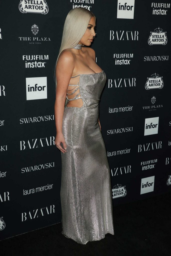 Kim Kardashian at Harper's Bazaar ICONS Party During New York Fashion Week 09/08/2017-4