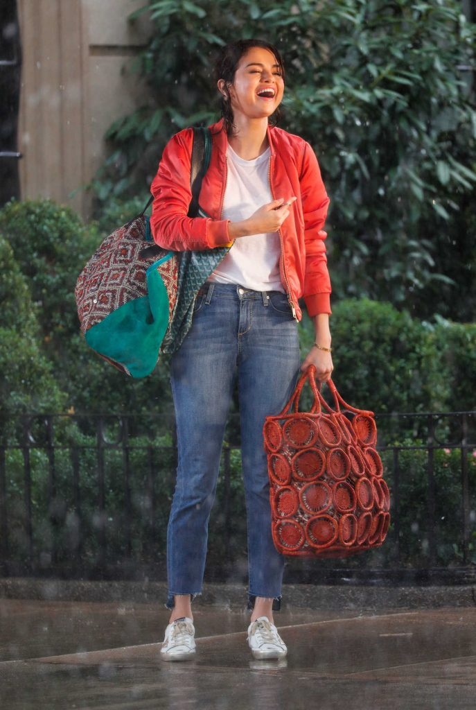 Selena Gomez on the Set of Untitled Woody Allen Movie in New York 09/20/2017-1