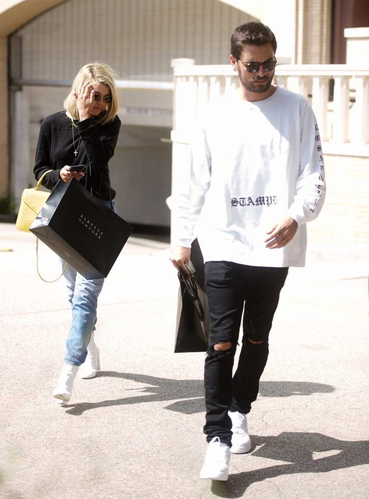 Sofia Richie Goes Shopping at Barney's With Scott Disick in Beverly Hills 09/15/2017-1