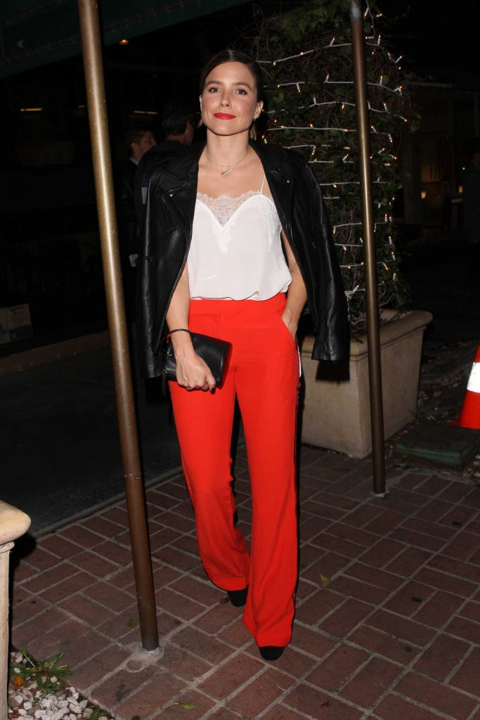 Sophia Bush Out for a Dinner at Italian Restaurant Madeo in West Hollywood 09/22/2017-1